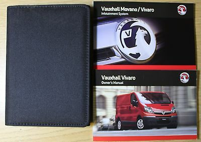 Vauxhall Vivaro Owners Manual Handbook Wallet 2006-2014 Pack