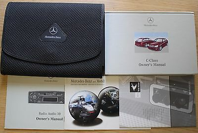 Mercedes C-Class Owners Manual Handbook Wallet 2000-2004 Pack 11180