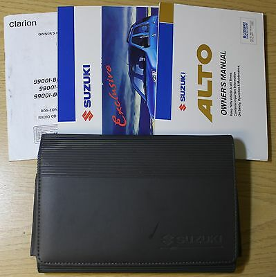 Suzuki Alto Owners Manual Handbook Wallet 2002-2006 Pack 2393