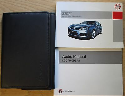Vauxhall Vectra Owners Manual Handbook Wallet Cdc 40 Opera 2005-2008 Pack 11394