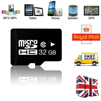 32GB Micro SD TF Flash Class 10 Memory Card for Cell Phone Tablet PC