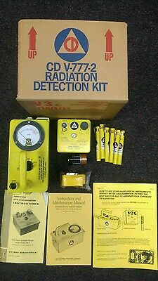 Cold War Civil Defense Cdv-777-2 Radiation Detection Kit
