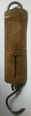 Vintage Brass Fish / Luggage Scale 50 Lbs Frary's Improved Spring Balance