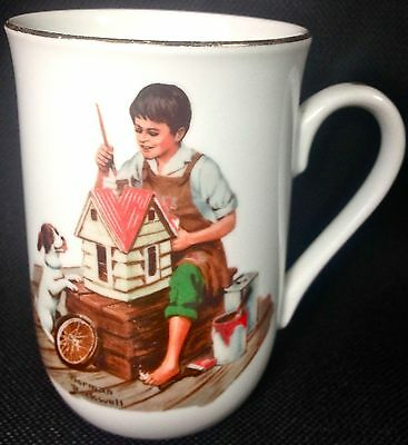 Norman Rockwell Mug DOLLHOUSE FOR SIS 1982 Museum