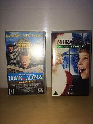 Christmas Vhs Double Home Alone 2 Miracle 34th Street