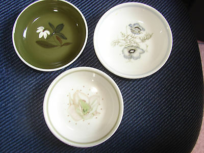 Susie Cooper Three Bone China Pin Dishes With Different Designs
