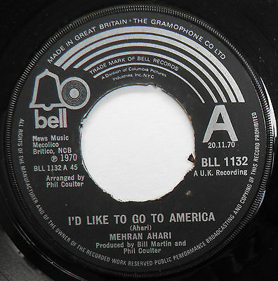 "Mehran Ahari-Go To America-UK BELL PROMO 7""-Acid Folk Psych Popsike-1970-HEAR"