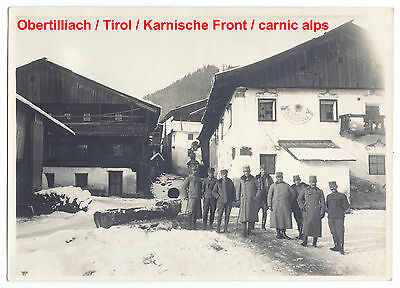 K.u.k Foto Stellung,Offizier,Obertilliach,Karnische Front,kuk photo,tyrol,carnic
