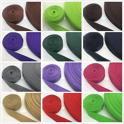 22 Color 2/5/10/50 Yards (25mm) 1 inch Width Strap Nylon Webbing Strapping pick