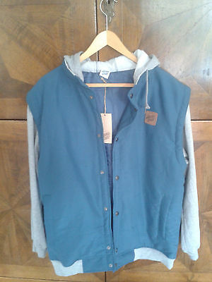 Santa Cruz Jacke L Burleigh Dark teal heather blau grau college neu new