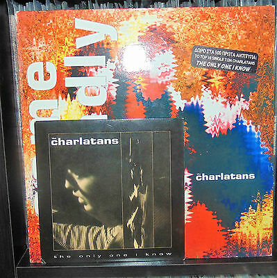The Charlatans - Some Friendly Very Rare Greek Og Press with insert+7'' single !