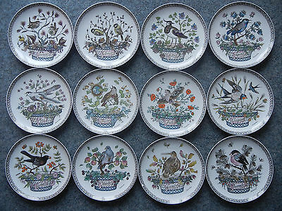 Hutschenreuther bird plates full set of 12 from January to December Ole Winther