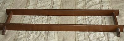 Wood Display Rack Wall Hanging for Decorative Plate, Wood Groove for plate