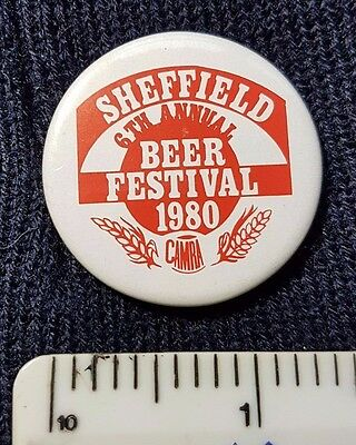 Sheffield Beer Festival 1980 pin back badge - Camra