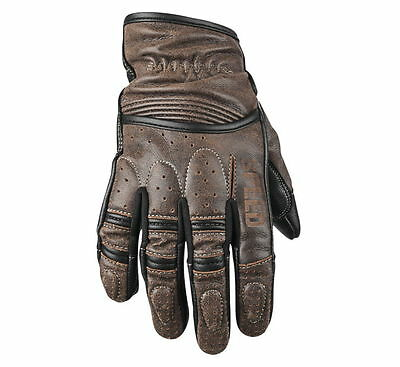 Speed & Strength Rust and Redemption Leather Motorcycle Gloves (Brown) FREE SHIP