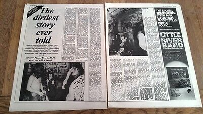 AC/DC 'a dirty story' 1976 2 page  UK ARTICLE / clipping