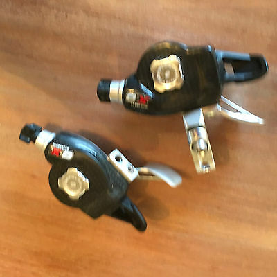 SRAM X-0 Rapid Fire Trigger Shifters, Front & Rear, 3x9 Speed, Carbon, XO