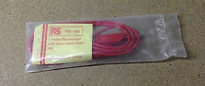 New Radio Spares Flexible Lead with 4mm Stack Plugs - Red - Black