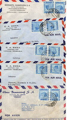 Stamps Venezuela - 24 covers from the 1950s.