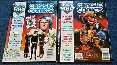 dr who classic comics #10 and #14