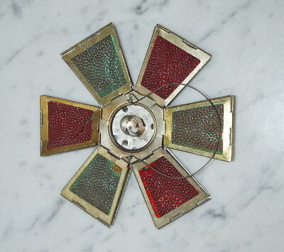 Antique folding latern ornament, candle holder, Germany ca. 1910 (# 6483)