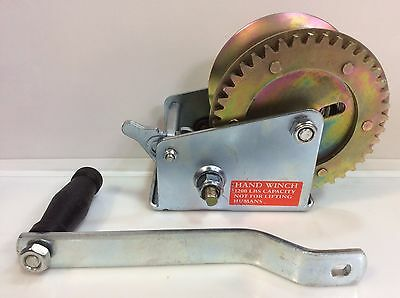 (Closeout) ABN Hand Crank Winch, Single-Speed, 2000 lb for Trailer, Boat or ATV