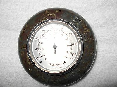 Vintage Cornish Serpentine Thermometer  Paperweight  In Good Condition.