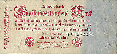 Germany 500000 Reichsmark Banknote 1923