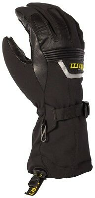 Klim Fusion Snow Snowmobile Gloves (Pair) Black Adult All Sizes