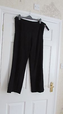 Maternity Blooming Marvellous Black Formal Office Trousers Size 10