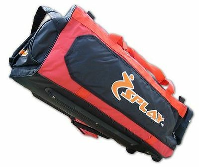 Wheelie Kit Bag Orange Trolley wheely bag Cricket Zip Holdall sports case carry