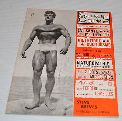 -SCIENCES CULTURISTES #96 BodyBuilding French Magazine 1966 STEVE REEVES -