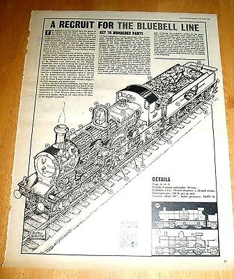 Eagle Cutaway Drawing  G.w.r.  Earl Of Berkeley On The Bluebell Line  3/12/1966