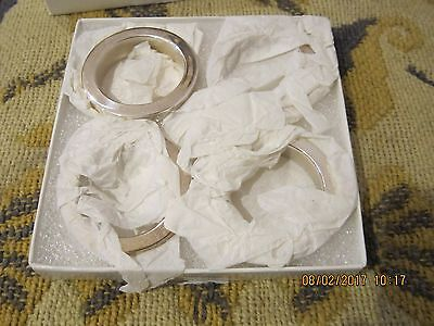 Napkin round rings holder, silver plated, 4 rings in the box