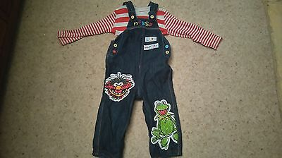 Muppets dungarees. 18-24 months