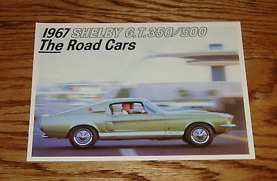 1967 Ford Mustang Shelby GT 350 500 Foldout Sales Brochure 67