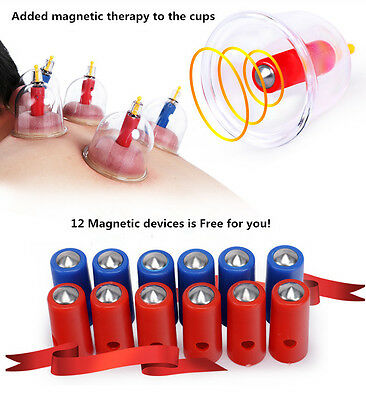 Healthy Vacuum 12 CUPPING cups Simming Therapy Massage Acupuncture BIG SALE