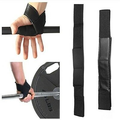 For Weight Lifting Training Gym New Wrist Support Glove Wrap Hand Bar Strap SWTP