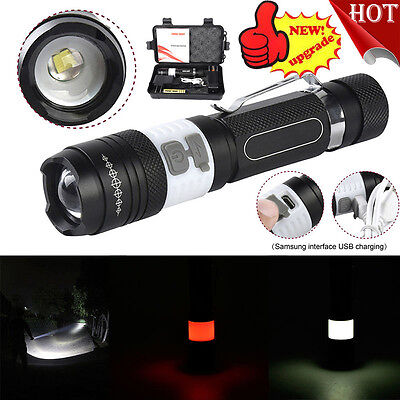 6000LM  X800 Tactical Zoomable XML T6 LED Military Flashlight Torch Light Lamp