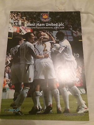 Rare West Ham United Report And Financial Statements