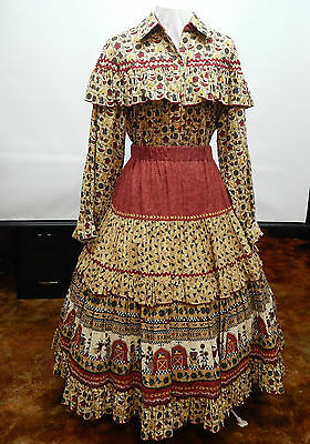 Closeout Sale !!!2 Piece Country Girl Square Dance Prairie Dress