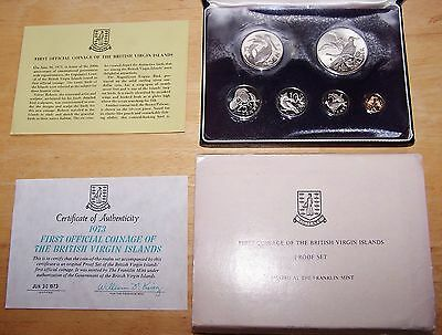1973 First Official Coinage of the British Virgin Islands Proof Set