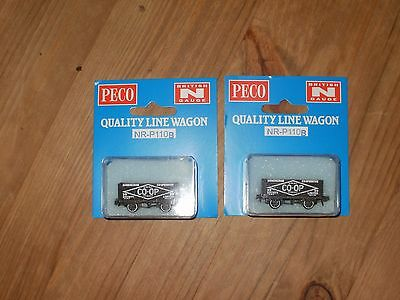 N Gauge Model Railway 2 Peco Co Op Wagons  New In Box
