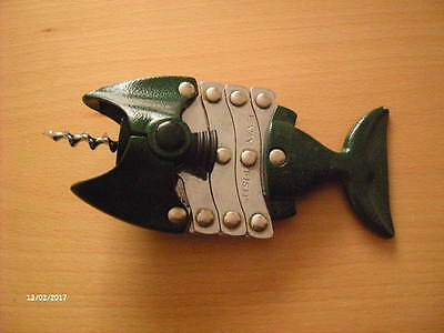 "Vintage Metal Corkscrew ""Lazy Fish"""