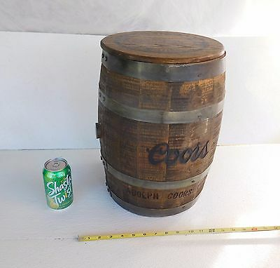 Vyg Collectible Coors Beer Keg Wooden Adolf Coors Co.trade Mark Licensed