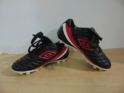 Soccer Shoes Cleats Childrens  Size 10 Toddler Umbro Black Red