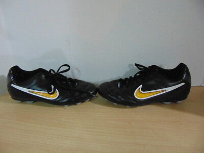 Soccer Shoes Cleats Childrens  Size 4 Youth Nike Black Gold