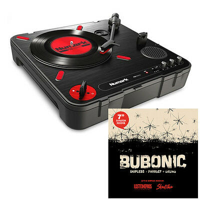 """Numark PT01 Scratch Package with 7"""" scratch vinyl and built in cut switch!"""