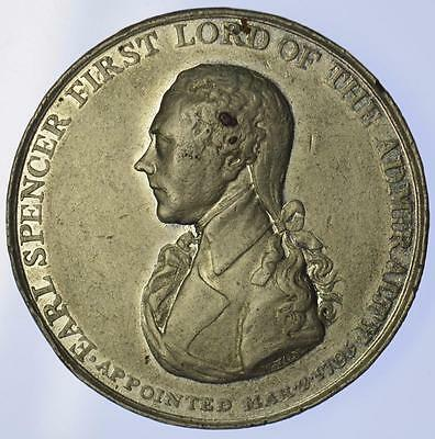 England - 1799 Earl Spencer, First Lord of the Admiralty medal