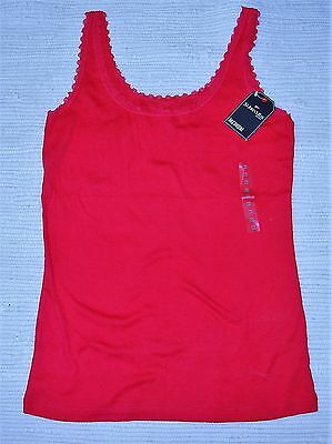 ST JOHN'S BAY (JC PENNEY) ladies CAMISOLE TANK   TOP bright  ROSE size M NWT!